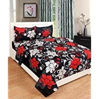 Weave Well Premium Multi Color Polycotton Double Bedsheet with 2 Pillow Covers