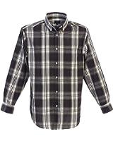 Gioberti Mens Casual Long Sleeve Plaid Checked Button Down Shirt