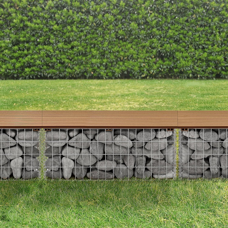 pro.tec] Banc du jardin gabion de bonne qualité avec siège de WPC ...