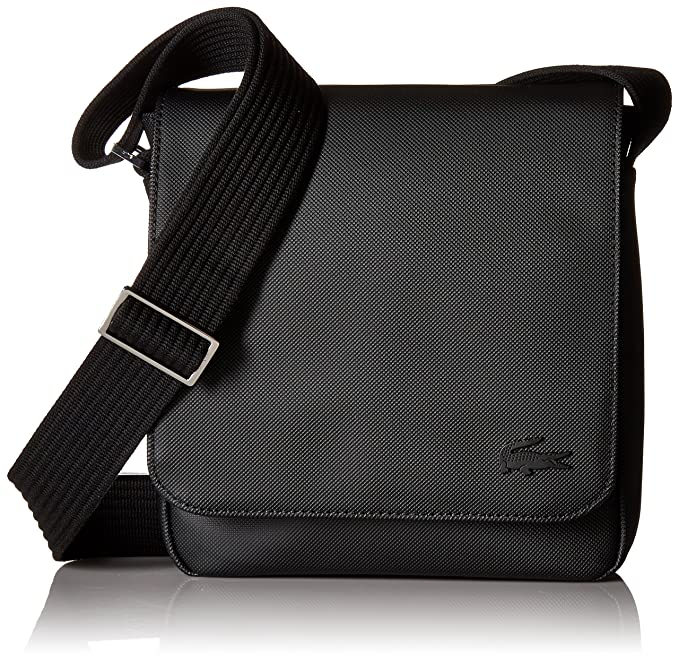 90318bfa Lacoste Men's Men S Classic Flap Crossover Bag, Nh2341hc Accessory, black,  ...