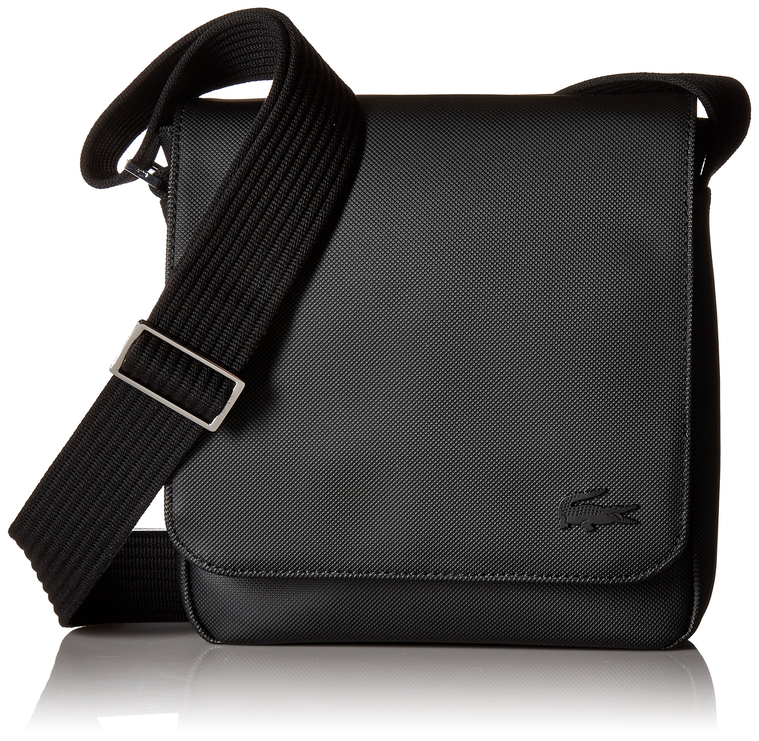 Lacoste Men's Flap Crossover Bag, Black, One Size