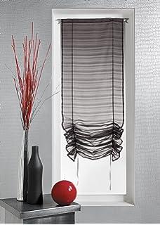 homemaison hm blanc x cm store remonter voilage fantaisie tisse with voilage court. Black Bedroom Furniture Sets. Home Design Ideas