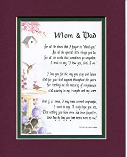 Amazon mom dad ill always remember 136 a thank you a present for mom and dad poem 135 a gift for parents anniversary thecheapjerseys Image collections