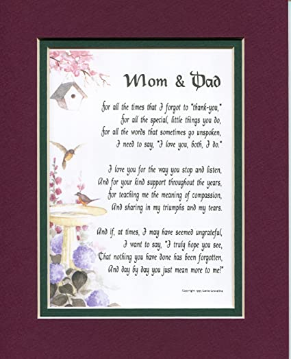 a christmas present for mom and dad poem 135 a gift for parents