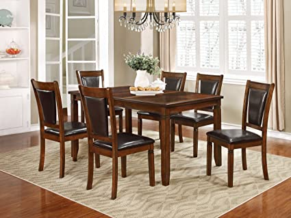 NHI Express 7Pcs Wood Dining Set