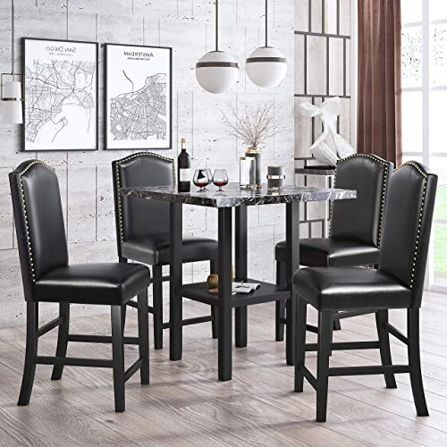Harper Bright Designs 5-Piece Dining Table Set