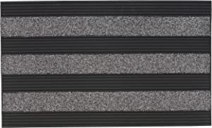 """Superio Non-Slip Welcome Doormat for Entry, Indoor Outdoor, Heavy Duty, Waterproof, Easy Clean, Low-Profile Mats for Entry, Garage, Patio, High Traffic Areas, Grey Ribbed Coir, 18""""x30"""""""