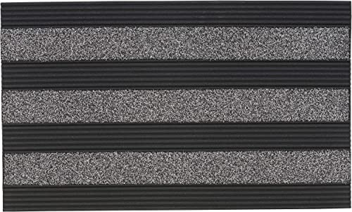 Superio Non-Slip Welcome Doormat for Entry, Indoor Outdoor, Heavy Duty, Waterproof, Easy Clean, Low-Profile Mats for Entry, Garage, Patio, High Traffic Areas, Grey Ribbed Coir, 18 x30