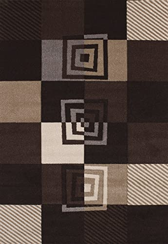 United Weavers of America Townshend Collection Vibes Modern Area Rug, 7-Feet 10-Inch by 11-Feet 2-Inch, Black