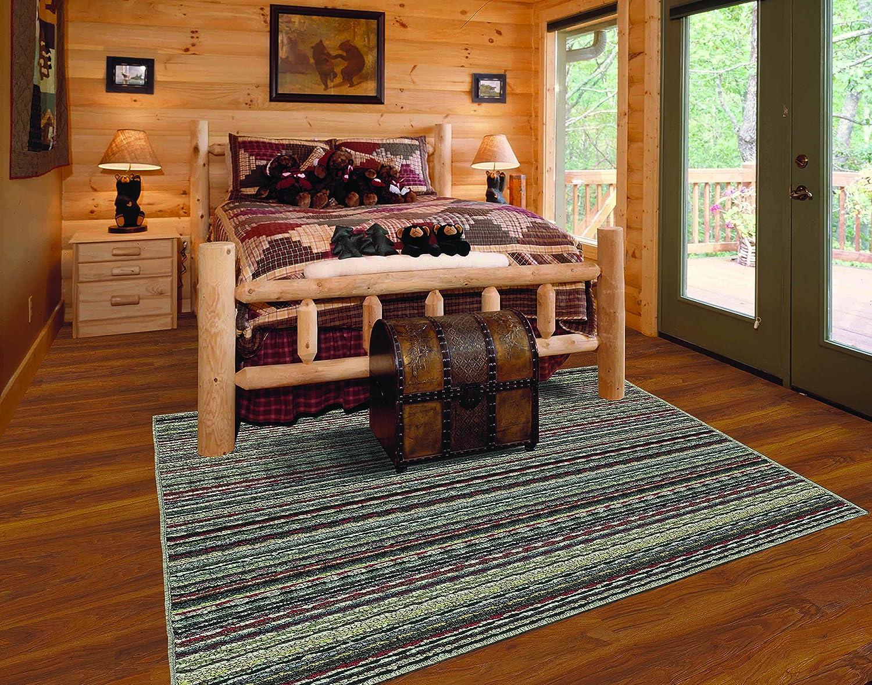 Amazon.com: Garland Rug Carnival Stripe Area Rug, 6 x 9, Random Multi: Kitchen & Dining