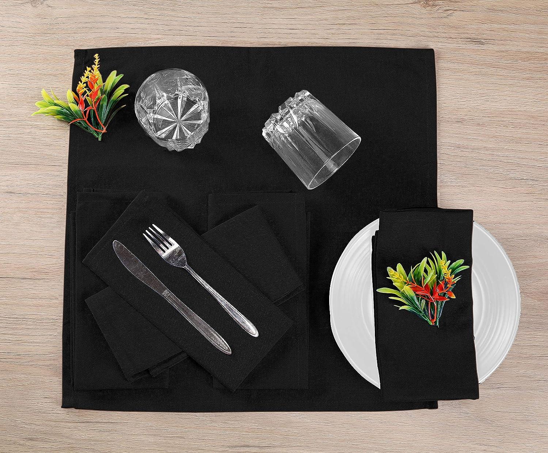 Easy Care Washable Cocktail Napkins Wedding Dinner Napkins Native Fab Cloth Dinner Napkins Set of 12 Cotton 17x17 Absorbent Soft Restaurant Hotel Quality Everyday Use Beige