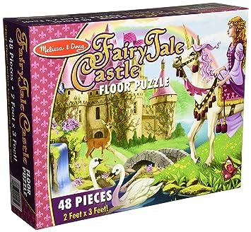 Amazoncom Melissa Doug Fairy Tale Castle Jumbo Jigsaw Floor - Melissa and doug floor puzzle