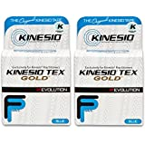 """Kinesio Tex Gold FP Tape - Blue - 2"""" x 16.4' - Pack of 2 rolls"""