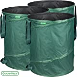 GardenMate 3-pack 43 Gallons Pop-Up Garden Waste Bags - Collapsible spring bucket - Collapsible Container