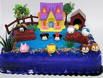 Amazoncom Tsum Tsum Themed Birthday Cake Topper Set Featuring