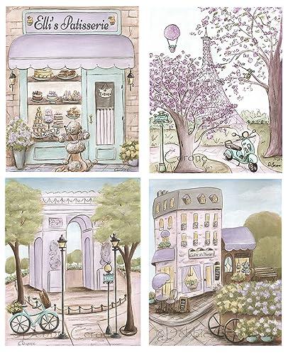 Amazon.com: Paris Bedroom Decor Baby Girl Nursery Art Prints ...