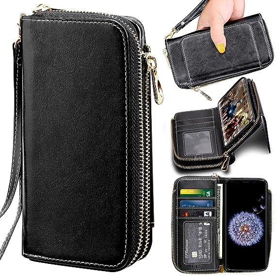 best website 978fb 66f17 Samsung Galaxy S9 Plus Wallet Case, ELV [PU Leather] Premium Detachable  2in1 Folio Wallet Purse Samsung S9 Plus Credit Card Flip Case Protective  with ...