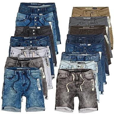 d438161a8daa Sublevel Herren Jogg Jeans Shorts Kurze Hose Bermuda Denim Sweatpants Cargo  JoggJeans Vintage Cargohose Used Look  Amazon.de  Bekleidung