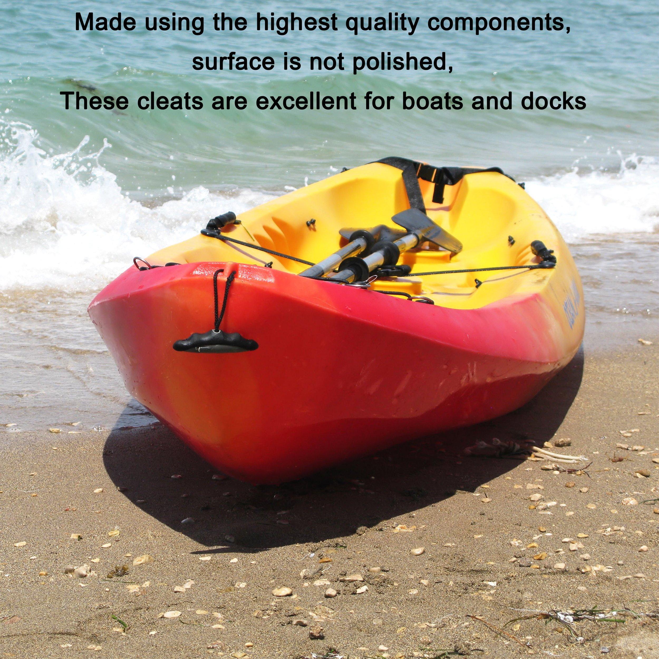 IZTOSS Marine Boat Dock Nylon Cleat 6-1/2'' Black Pack of 4 by IZTOSS (Image #6)