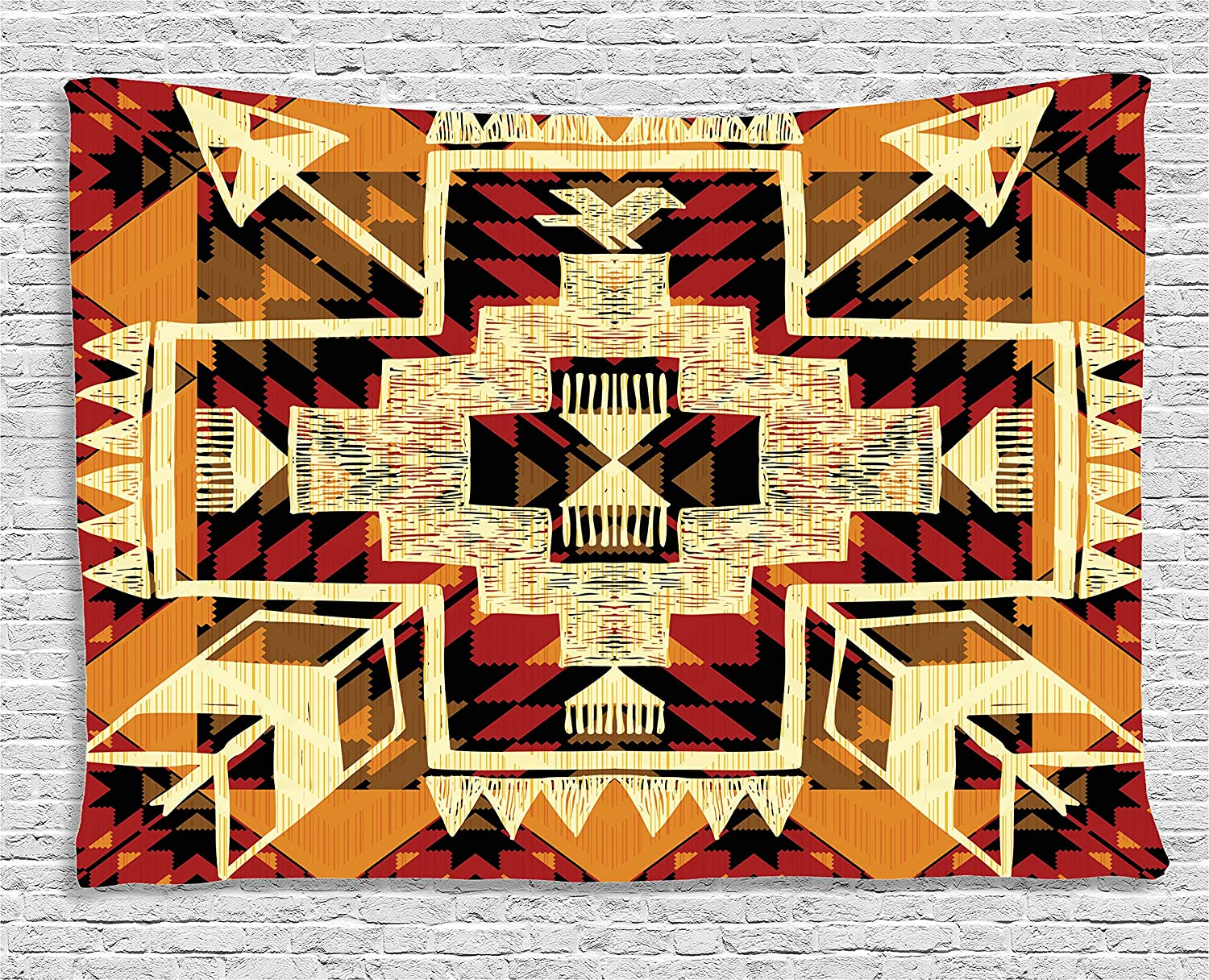 Amazon.com: Ambesonne Arrow Decor Tapestry, Native American Inspired ...