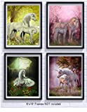 Amazon Price History for:Unicorn Room Decor Art Prints 4 Pack | Set of Four Photos 8x10 Unframed | Great Gift for Unicorn Party Supplies or Unicorn Girls Birthday