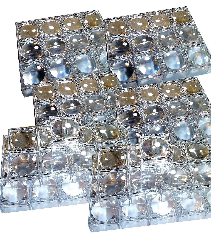 96 Stück Mini Lupendose Becherlupe klein mit 5fach Vergößerung