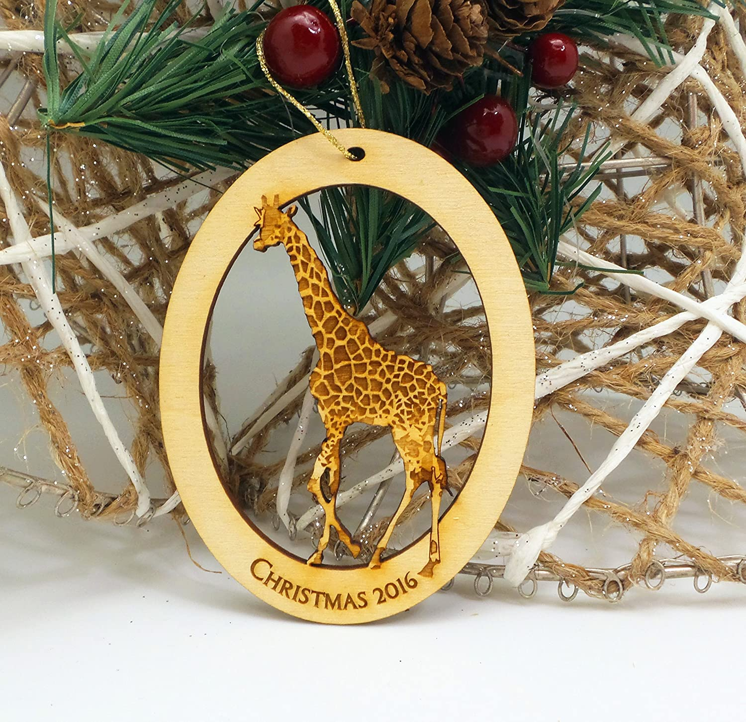 Amazon.com: GIRAFFE Ornament - Giraffe Christmas Ornament ...