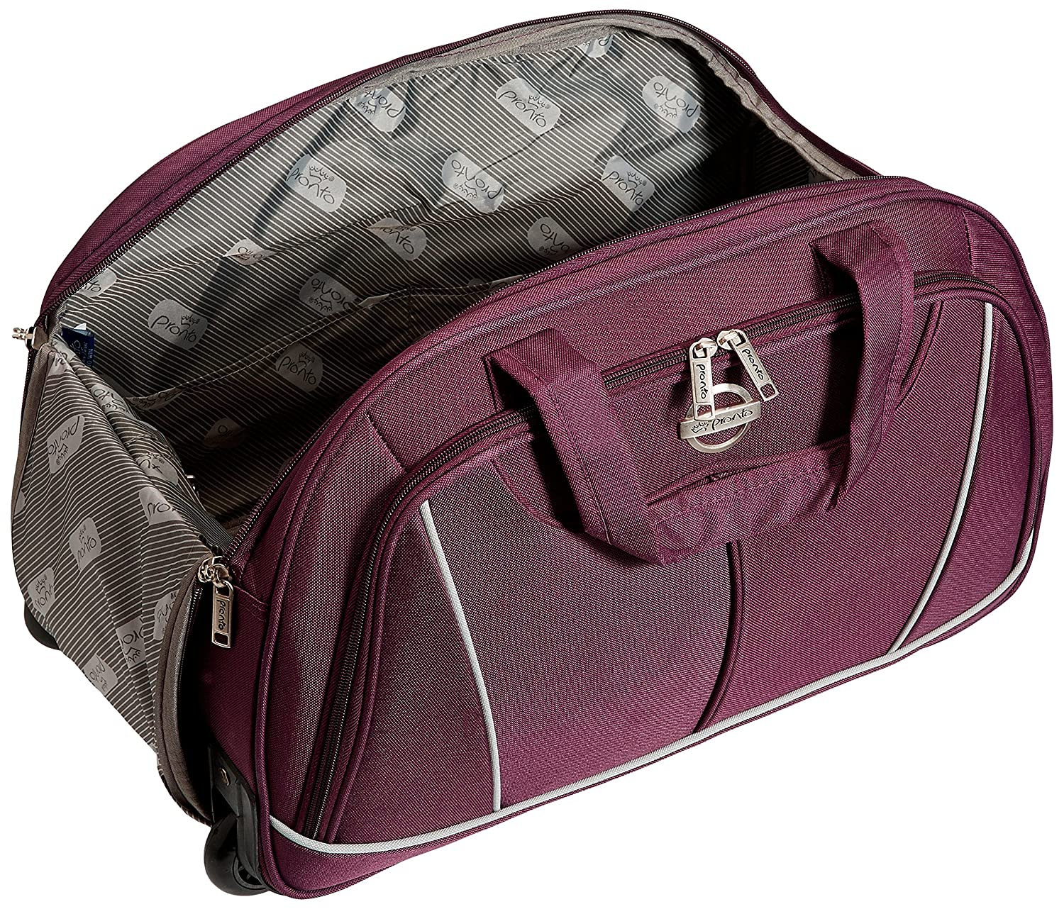 637b9b0465 Pronto Miami Polyester 50 cms Dark Purple Travel Duffle (6572 - PL)   Amazon.in  Bags