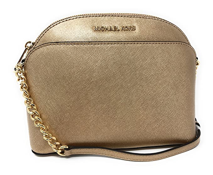 76f4c2cc1ae3 Image Unavailable. Image not available for. Colour: Michael Kors Emmy  Saffiano Leather Medium Crossbody Bag in Rose Gold
