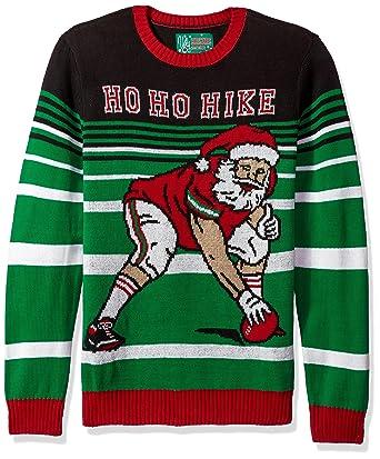 Ugly Christmas Sweater Company Men s Football Santa at Amazon Men s ... 38cfd7cc2783