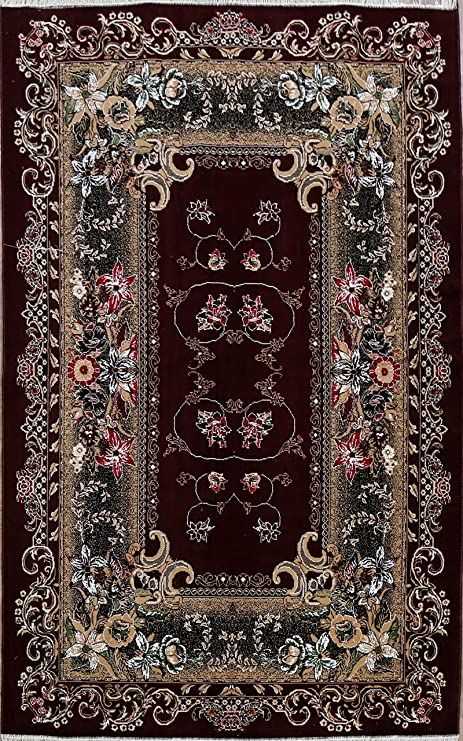Amazon Com 7x10 Stunning Burgundy Art Deco Turkish Oriental Floral Area Rug Traditional Carpet For Dining Room 6 6 X 9 9 Kitchen Dining