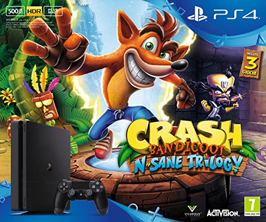 8 opinioni per Playstation 4 500Gb D, Nero + Crash Bandicoot: N'Sane Trilogy [Bundle]
