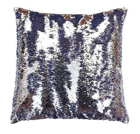 Thro by Marlo Lorenz Melody Mermaid Reversible Sequin Pillow, Nirvana Silver