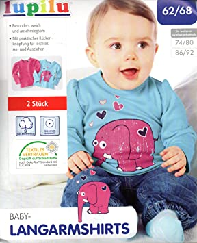9f759c25c Image Unavailable. Image not available for. Colour: lupilu Girls 2 Baby Girl  Long Sleeve T Shirts ...