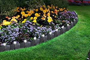 Solar LED 36 Piece Lighted Path/Garden/Lawn/Driveway Edging