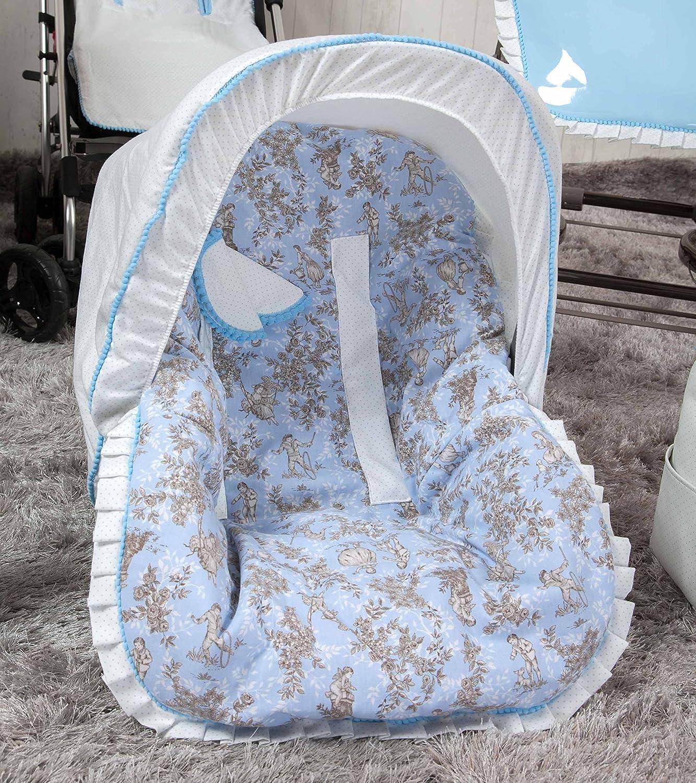 color azul Colchoneta para silla grupo 0 Babyline Toile