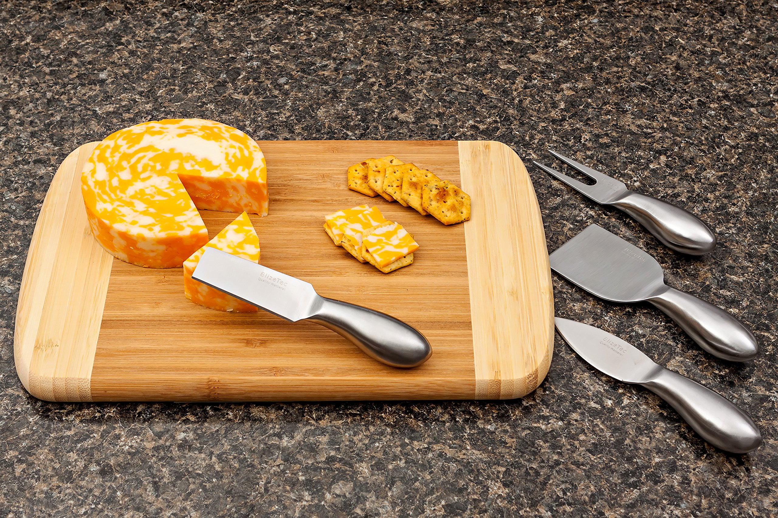 Cheese Knives: BlizeTec Cheese Slicer & Cutter Set (4 pcs) by BlizeTec (Image #5)