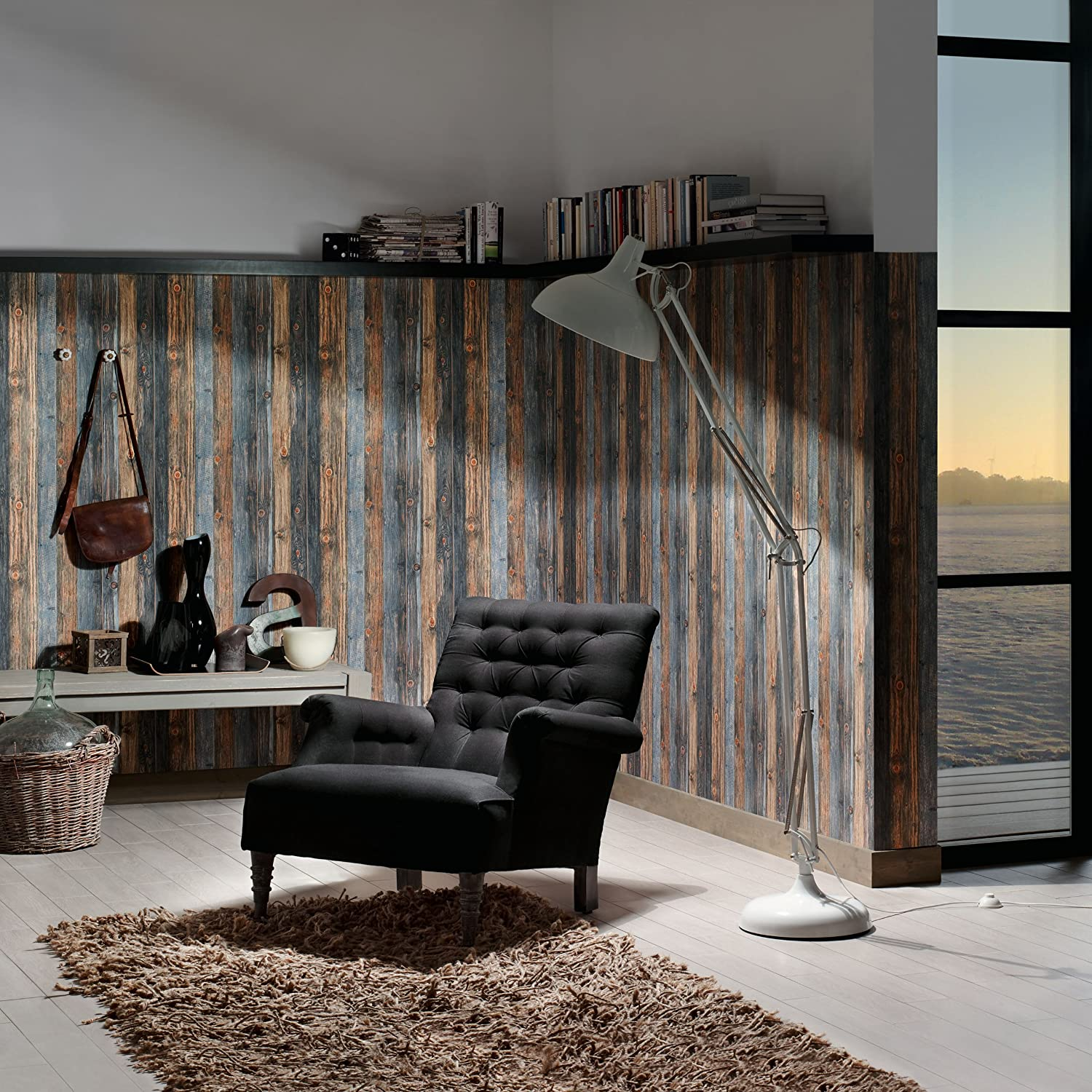 """A.S. Creation 908612 Mustertapete in Holzoptik """"Wood n Stone ..."""