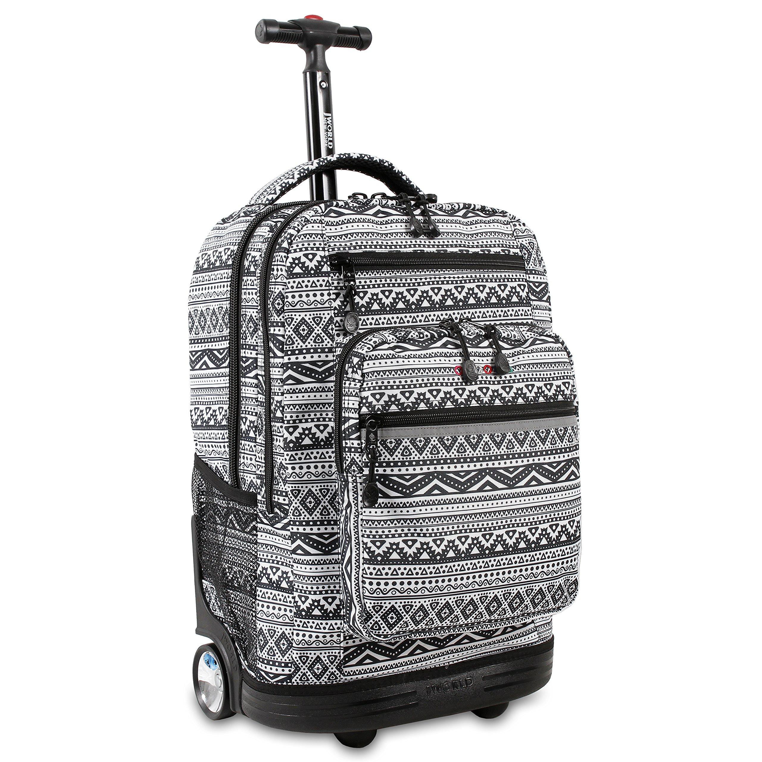 J World New York Sundance Laptop Rolling Backpack, Tribal by J World New York
