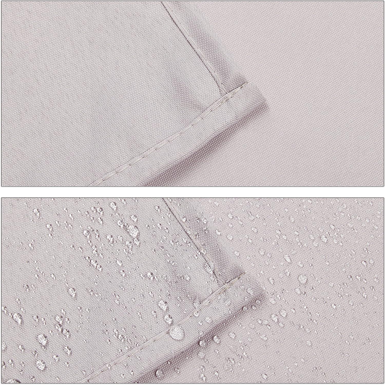 Relaxdays Tovaglia da tavola Idrorepellente Poliestere stirabile copritavolo da Giardino 110x140 cm Talpa