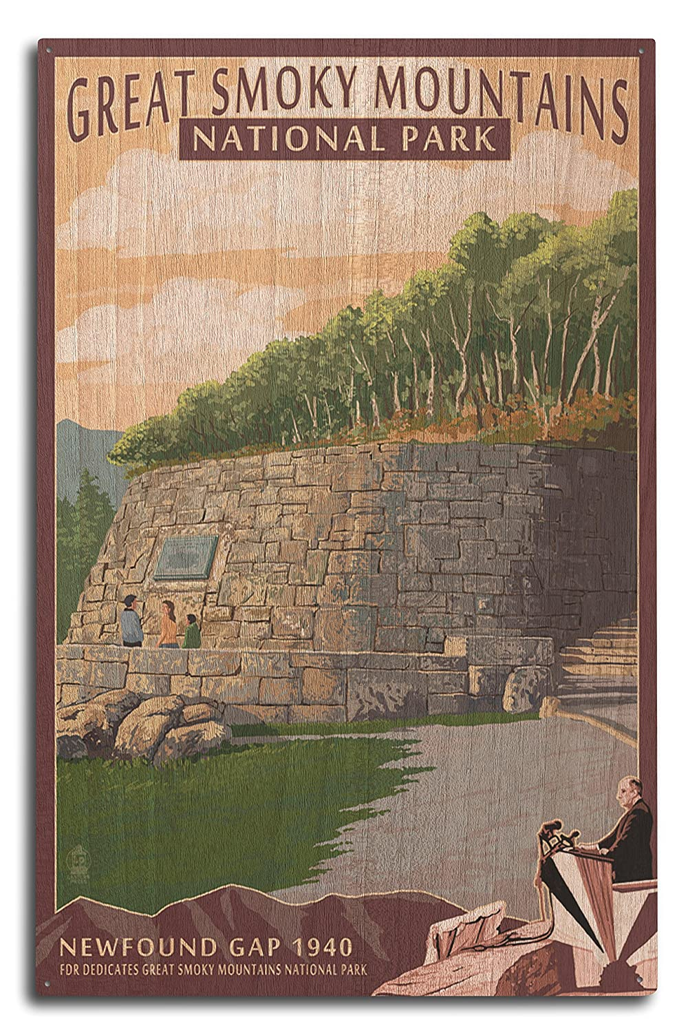 【新品本物】 Newfound Poster) Gap - Great Smoky Mountains National Park, 15 TN 10 (9x12 Art Print, Wall Decor Travel Poster) by Lantern Press B07365XF4P 10 x 15 Wood Sign 10 x 15 Wood Sign, 御代田町:17b22d5b --- arianechie.dominiotemporario.com