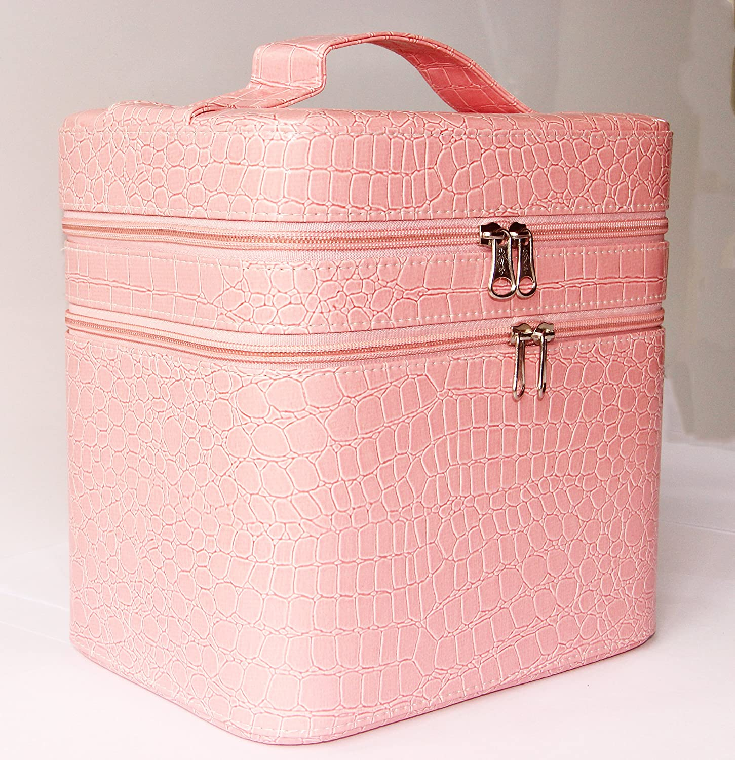 Amazon.com  Annie Queen Faux Crocodile Pattern Cosmetic Storage Cases Makeup Box Pink by Annie Queen  Beauty & Amazon.com : Annie Queen Faux Crocodile Pattern Cosmetic Storage ...
