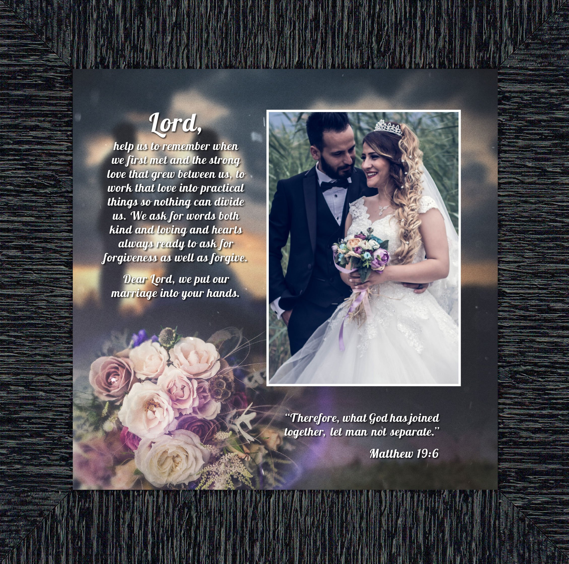 Personally Yours Marriage Prayer, Signs With Scripture, Christian Marriage Gift, 10x10 6325CH
