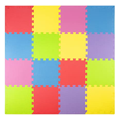 Amazoncom Foam Play Mats Tiles Borders Safe Kids Puzzle - Styrofoam floor mats