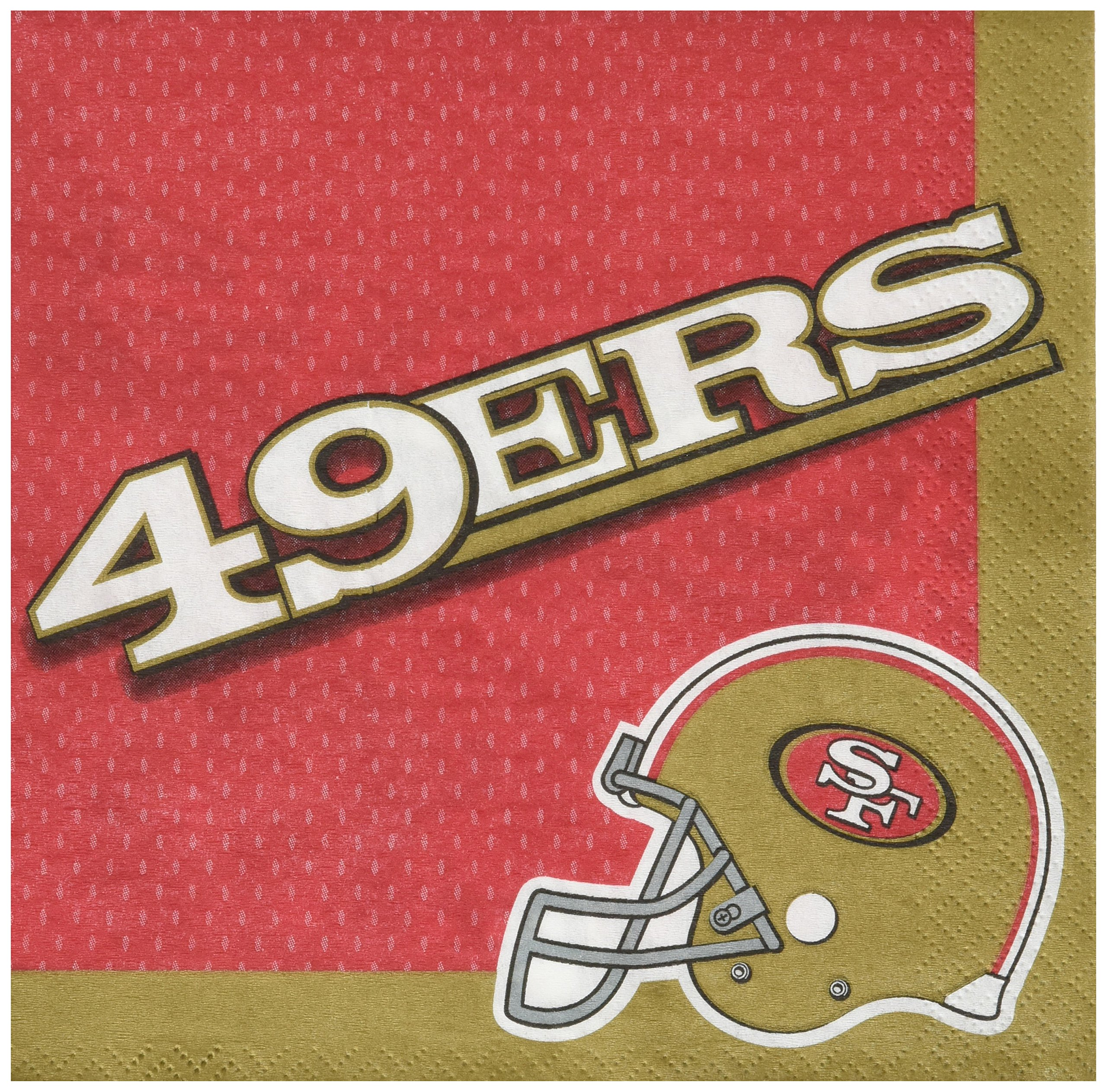 Amscan ''San Francisco 49ers Collection'' Luncheon Napkins, 96 Ct.