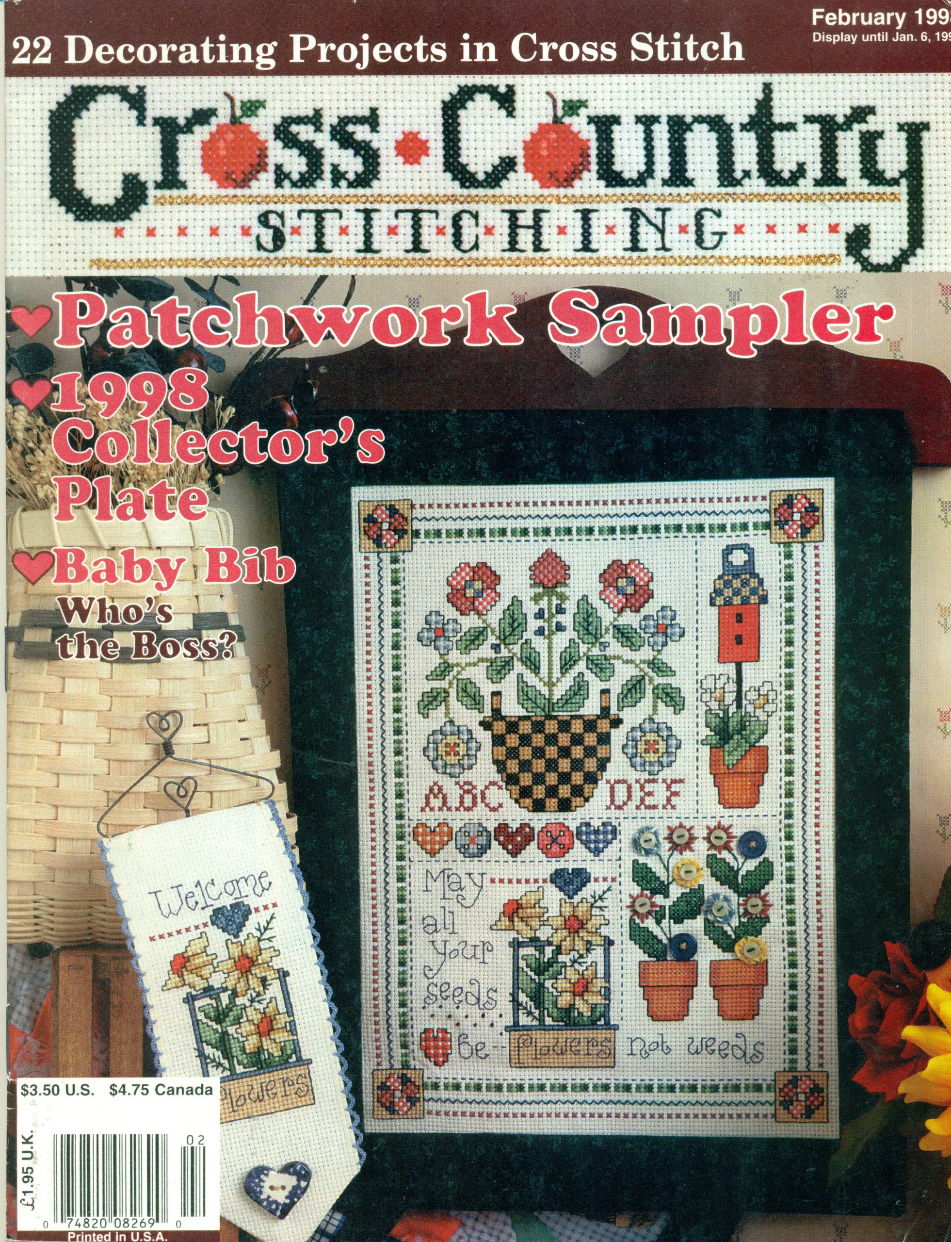 Cross Country Stitching Magazine Vol  9, No  6 Jan/Feb 1998