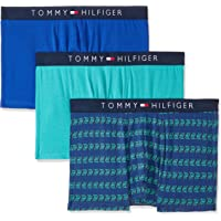 TOMMY HILFIGER Men's Cotton Trunks, Claret/Navy/Class, Medium, Pack of 3