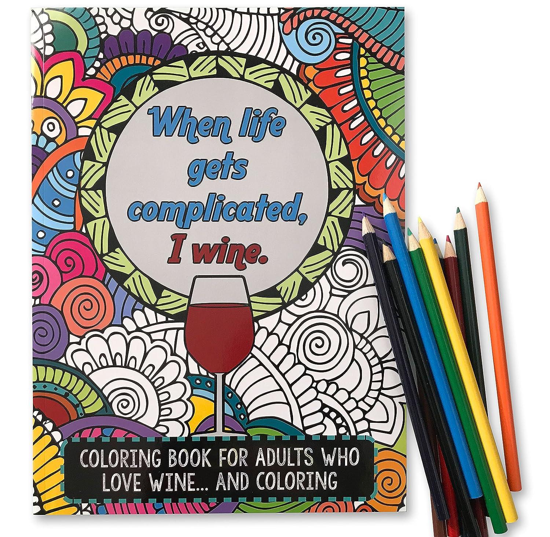 Lustiges Malbuch für Erwachsene, mit 12 Buntstiften – perfekter ...
