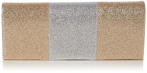 Swankyswans - Jem Sparkle Color Block, Carteras de mano Mujer, Dorado (Gold)