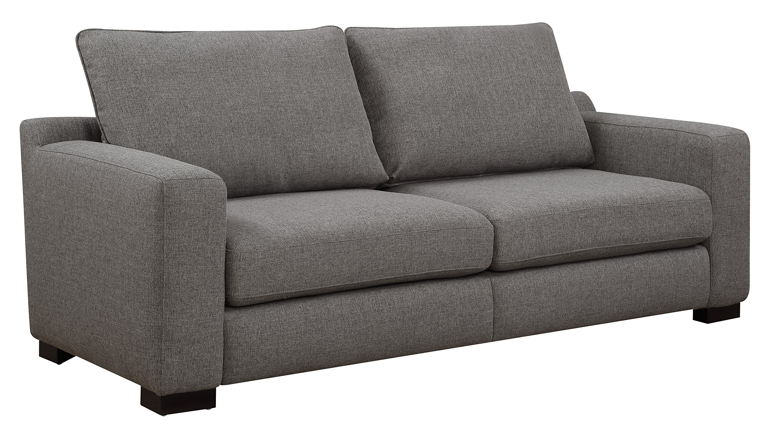 """Serta Geneva 78"""" Sofa in Cozy Gray - Perfect sofa for small living spaces Trendy wide track Arm and low Back Choose from two neutral colors to match your decor - sofas-couches, living-room-furniture, living-room - A1vJl%2BZo8DL -"""